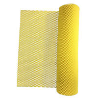 Yellow Foam Rubber Anti-Slip Shelf Drawer Liner Placemat for Cabinets,Desks