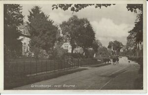 LINCOLNSHIRE, GRIMSTHORPE NEAR BOURNE, PHOTO POSTCARD