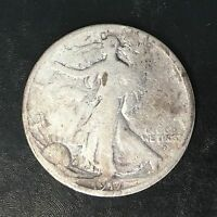 1917-D Obverse Mint Mark Walking Liberty Half - High Quality Scans #F169