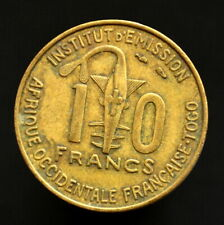 French West Africa 10 CFA Francs (Togo) 1957. km8. Animals coin