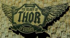 THOR HELMET NAMEPLATE FOR YOUR PROP DISPLAY RAGNAROK AVENGERS HAMMER
