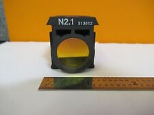 LEITZ LEICA FLUORESCENCE N2.1 513812 FILTER CUBE MICROSCOPE PART AS PIC &H8-B-07