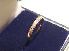 9ct (actually 10ct) Yellow Gold 0.15ct Real Diamonds H-I2 Eternity Wedding Ring