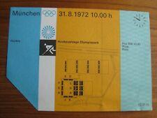 Munich 1972 Olympics - Field Hockey Ticket - GB v Kenya