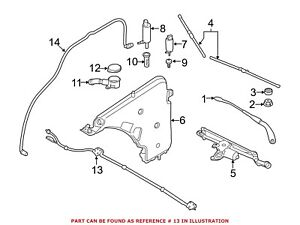 For BMW Genuine Windshield Washer Nozzle Front 61667276500