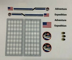 Custom Replacement Stickers for 10213 10231 Space Shuttle Expedition