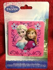 Disney Frozen Anna & Elsa Jumbo Puzzle eraser 3.5x3.5 Inch Brand New