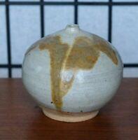 Mid Century Drip Glaze Weedpot Vase Organic Modernist 1960s