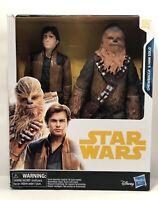 Star Wars Chewbacca & Han Solo Figures: 10 Inch Figure Disney/Hasbro New In Box