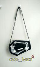 White Skull Coffin Purse Casket Theme Gothic Handbag Women's Shoulder Bag Gift