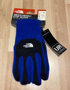 New Mens North Face Denali Etip Glove Size Medium Blue