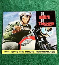 1966 TRIUMPH MOTORCYCLE BROCHURE BONNEVILLE TT SPECIAL TROPHY-650 500 TIGER CUB