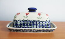 Ceramika Z Covered Butter Dish Boleslawiec Poland Hand Made Polish Pottery
