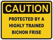Dog Breed Bichon Frise Caution Sticker Pet for Bumper Car Locker Door