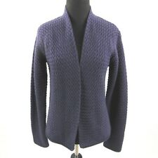 efd81777646d Eileen Fisher Merino Wool Cardigan Womens Petites Medium Purple Open Front