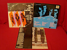 ELVIS COSTELLO GET HAPPY ALMOST BLUE TAKING LIBERTIES LOT OF THREE LP'S + POSTER