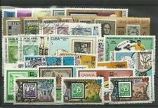 "Lot timbres thematique "" Les Timbres sur timbres"""