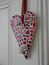 Glass red mosaic heart   - Valentine unique gift ,handmade