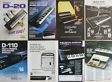 8 x Roland Synthesizer 1980's Vintage Adverts – D-10/20/50/110 S-50 SH2000