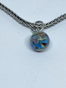 Authentic Trollbeads Murano Glass Bead Flowers Daydream Blossom Dangle HTF Rare