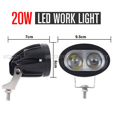 20W Spot Cree LED Light Work Bar Driving Fog Lamp Off Road SUV Car Boat Truck