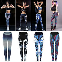 Ladies Sport Yoga Gym Wear Tight Trousers Leggings Workout Running Fitness Pants