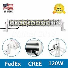 "22"" 120W CREE LED Light Bar Spot Flood Combo White Work Lamp SUV Car Offroad 4WD"
