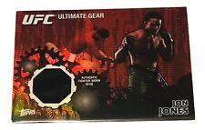 Jon Jones 2010 Topps UFC Authentic Fighter Worn Gear Refractor Card 13/88