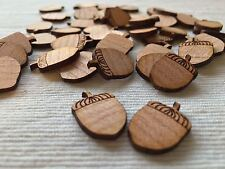 50 Streudeko Holz Tischdeko Deko Bastel Zubehör Streuteile Haselnuss Nuß Herbst