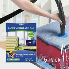 5 PACK Large Vacuum Seal Storage Bag Space Saver Compress Bags Direct Wholesaler