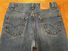 LEVIS 550 RELAXED FIT RED TAB VINTAGE USA JEANS SIZE 32 x 34 Tag 33 x 34 BEST B4