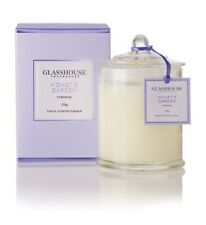 GLASSHOUSE CANDLE - MONET'S GARDEN TUBEROSE - LARGE 350g  - FAST POST