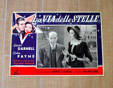 LA VIA DELLE STELLE fotobusta poster Walter Lang Darnell Payne Star Dust R50