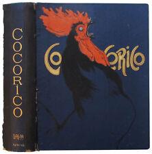 1902 Original Vintage Cocorico Magazine Cover by Steinlen