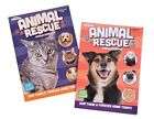 Rescue Animals Dogs Cats Coloring Book Pet Adoption Activity Books Set of 2 NEW