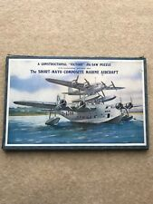 RARE 1930s THE SHORT MAYO COMPOSITE MARINE AIRCRAFT VICTORY 2 TIER JIGSAW PUZZLE