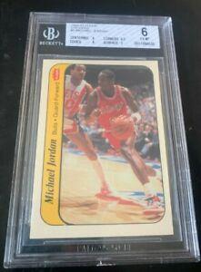 1986-87 Fleer Michael Jordan Rookie Sticker BGS 6