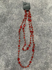 COSTUME JEWELLERY - BEADED RED NECKLACE!