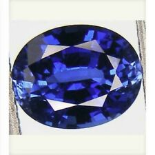 VERY RARE 6.8x5.4mm (1.10cts) OVAL-FACET NATURAL KASHMIR BLUE SAPPHIRE GEMSTONE