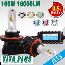 2Pcs H13 9008 160W 16000LM LED Headlight Bulbs Kit High Power Beam Lights Lamp