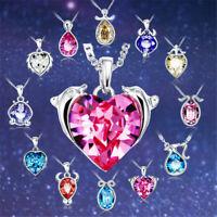 Sternzeichen Kette Halskette Kristall Silber Geschenk Element Sternzeichenkette