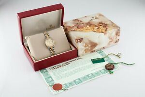 Rolex Women's Two-Tone Oyster-Perpetual Datejust Watch w/ Box and Papers 69173