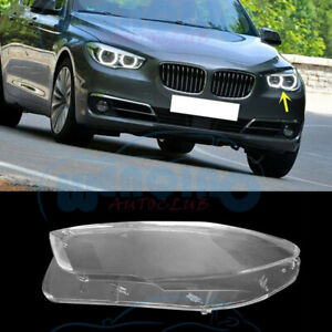 Left Side Headlight Clean Cover PC+Glue For BMW F07 5-Series GT 2010-2017