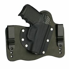 FoxX Leather & Kydex IWB Hybrid Holster SCCY CPX-1/CPX-2 Black Right Tuckable