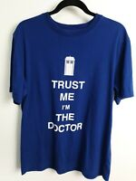 Doctor Who BBC Men's Blue Trust Me I'm The Doctor T-Shirt Size L