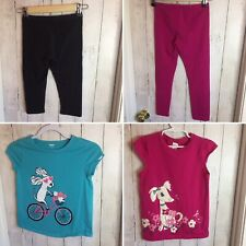 Lot Of 4 Pcs Girls Clothing SZ 7/8 Tops and Bottoms Dog lovers