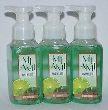LOT OF 3 BATH BODY WORKS MIAMI MINT MOJITO GENTLE FOAMING HAND SOAP WASH 8.75 OZ