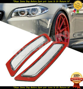 Fits 2011-16 BMW 5-SERIES BASE CLEAR Front Side Marker Bumper lamps Reflectors