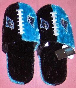 Carolina Panthers Plush Slippers FREE SHIPPING