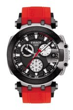 New Tissot T-Race Chronograph Red Strap Men's Watch T1154172705100